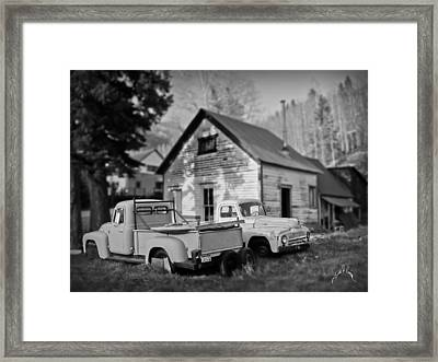 Trucks At Rico Framed Print