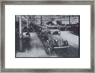 Trucks On Assembly General Motors, Sao Paulo, Brazil Framed Print