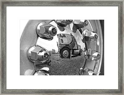 Truckstop Framed Print by Robert Lacy