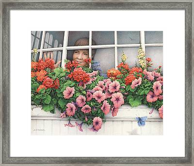 True Colors Shining Through Framed Print by Amy S Turner