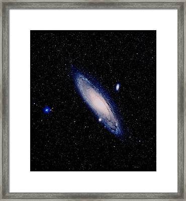 True-colour Palomar Image Of The Andromeda Galaxy Framed Print by Celestial Image Picture Co.