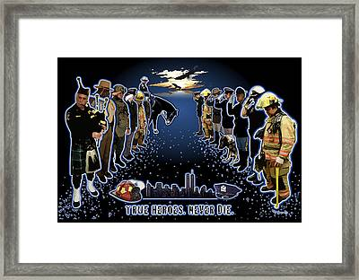 True Heroes Framed Print by Rose Borisow
