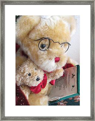 True Story Of Christmas 2 Framed Print by Judyann Matthews