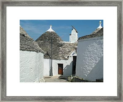 Framed Print featuring the photograph Trulli Houses Alberobello Italy by Joseph Hendrix