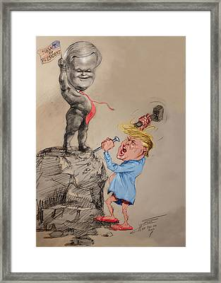 Trump Shaping Up The Future Framed Print by Ylli Haruni