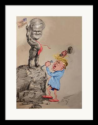 Us Election Framed Prints