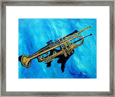 Framed Print featuring the painting Trumpet by Amanda Dinan