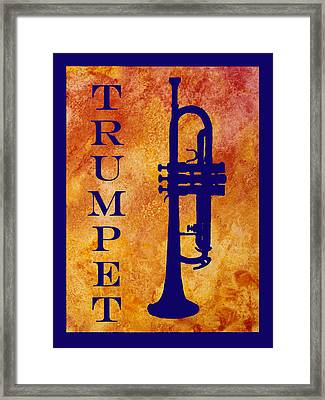 Trumpet Framed Print by Jenny Armitage