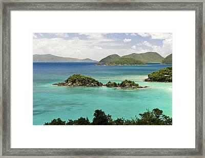 Trunk Bay St John  Framed Print