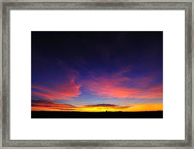 Try To Set The Night On Fire Framed Print by Richard Leon