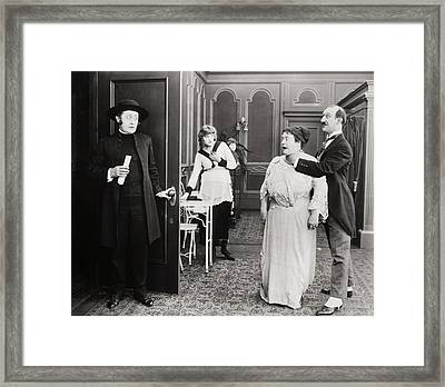 Trying To Get Along, 1919 Framed Print