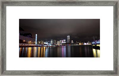 Tsim Sha Tsui - Kowloon At Night Framed Print by Enrique Rueda
