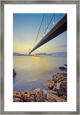 Tsing Ma Bridge Framed Print by Andi Andreas