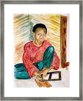 Tuareg Apprentice Framed Print