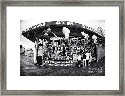 Tub Game Framed Print by John Rizzuto