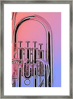 Tuba Euphonium Valves Isolated Framed Print by M K  Miller