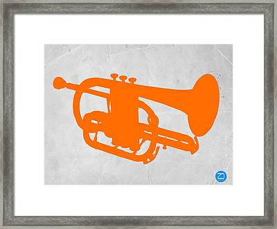 Tuba  Framed Print by Naxart Studio