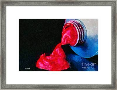 Tube Of Paint Framed Print by Elizabeth Coats