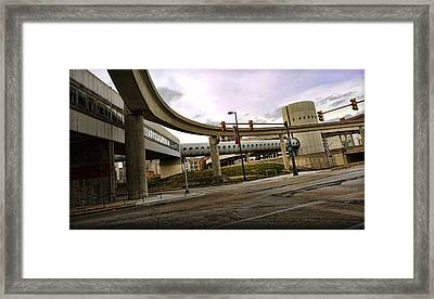 Tube Track Road Framed Print