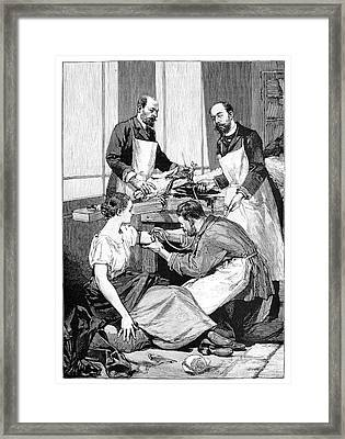 Tuberculosis Transfusion, 19th Century Framed Print by