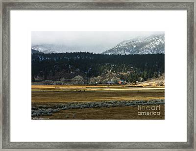 Tucked Away Like A Good Nights    Sleep Framed Print by Mitch Shindelbower