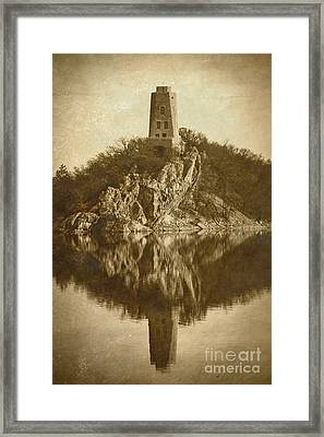 Tucker Tower In Sepia Framed Print by Royce  Gideon