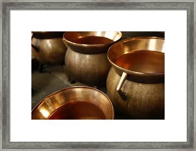 Tudor Copper Framed Print