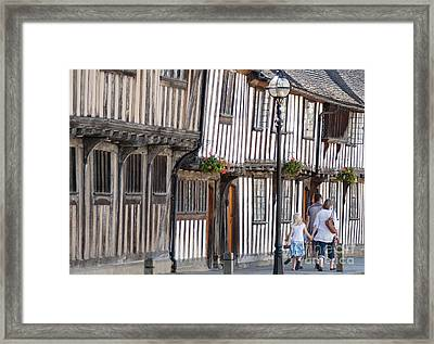 Tudor Houses Framed Print by Andrew  Michael