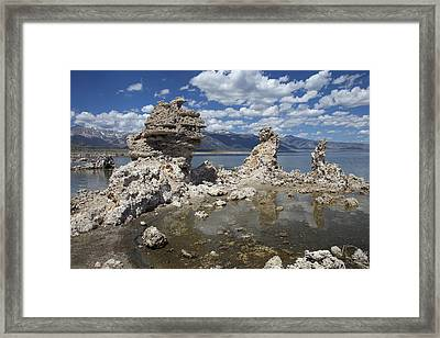Tufa And Clouds Framed Print
