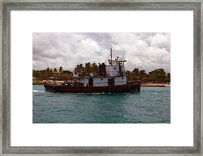 Tug Mark Framed Print by Ken  Collette