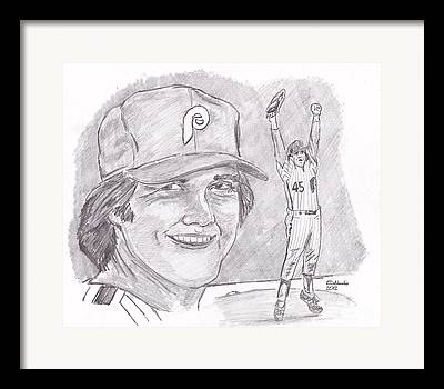 Fightin Phils Drawings Framed Prints