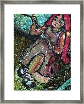 Tug Of War Framed Print by Tammy Cantrell