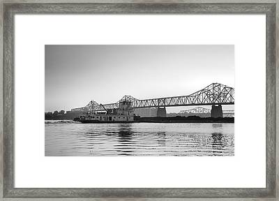 Tugboat On The Ohio II Framed Print by Steven Ainsworth