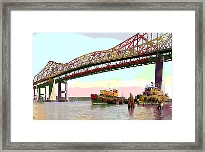 Tugboats Mcallister Framed Print by Charles Shoup