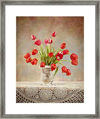 Framed Print featuring the photograph Tulip Bouquet by Cheryl Davis