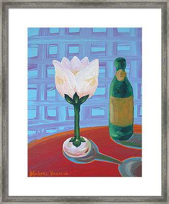 Tulip Champagne Framed Print by Michael Baum