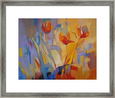 Tulip Song Framed Print by Marty Husted