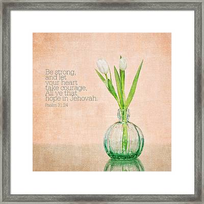 Framed Print featuring the photograph Tulips 2 by Mary Hershberger