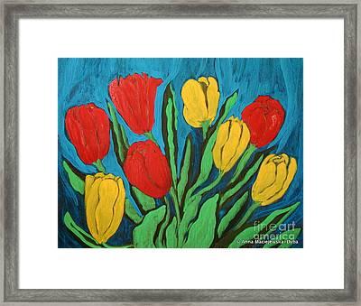 Tulips Framed Print by Anna Folkartanna Maciejewska-Dyba