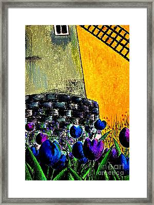 Tulips By The Mill Framed Print by Aisa  Mijeno