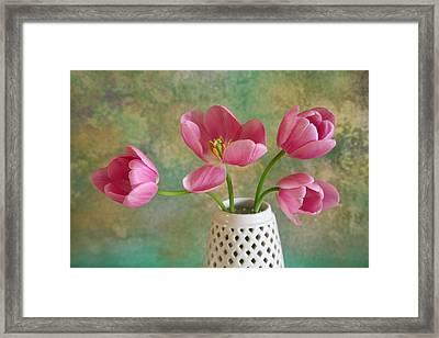 Tulips Framed Print by Erika Craddock