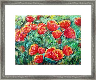 Tulips Expression Framed Print
