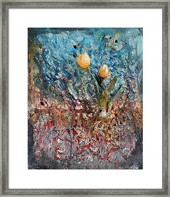 Tulips Framed Print by Hans Droog