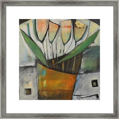 Tulips In Terracotta Framed Print
