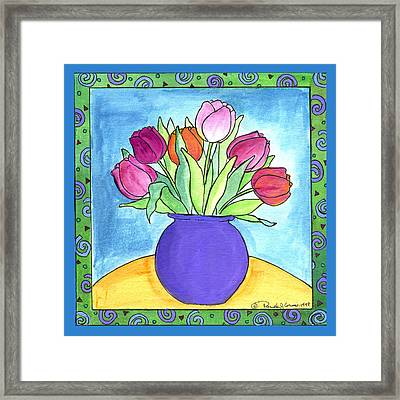 Tulips Framed Print by Pamela  Corwin