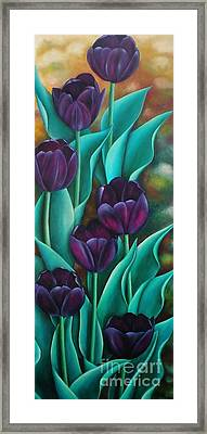 Tulips Framed Print by Paula Ludovino