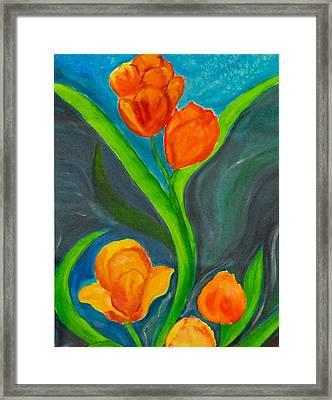 Tulips Framed Print by Tatyana Seamon