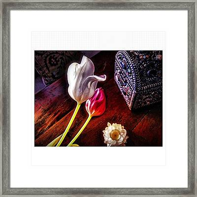 Tulips With Jeweled Chest Framed Print
