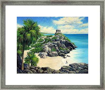 Tulum Ruins Mexico Framed Print by Vickie Fears