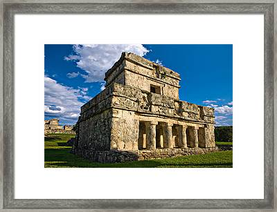 Tulum Temple Framed Print by Meirion Matthias